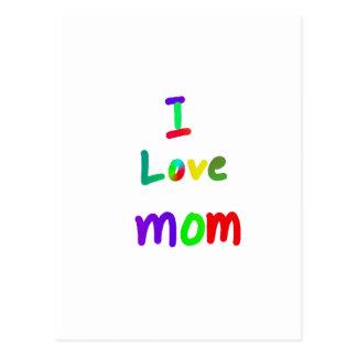 amo a la mamá tarjeta postal