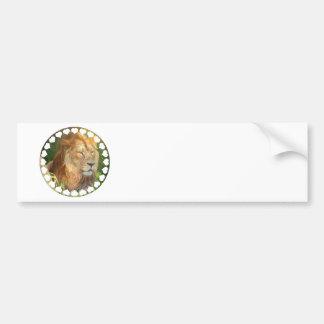 Amo a la pegatina para el parachoques de los leone etiqueta de parachoque