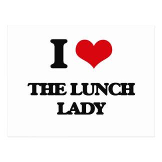 Amo a la señora del almuerzo postal