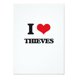 Amo a ladrones invitación 12,7 x 17,8 cm