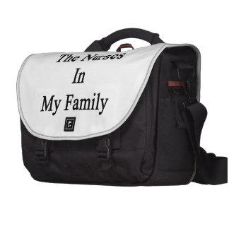 Amo a las enfermeras en mi familia bolsas para portátil