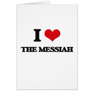 Amo a las Mesías Tarjeta De Felicitación