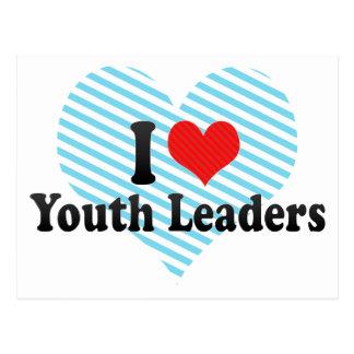 Amo a líderes de la juventud postales