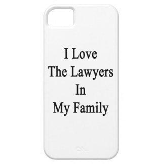 Amo a los abogados en mi familia iPhone 5 funda