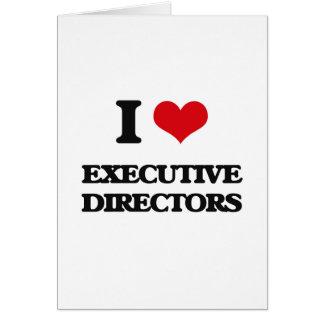 Amo a los directores ejecutivos tarjeta de felicitación