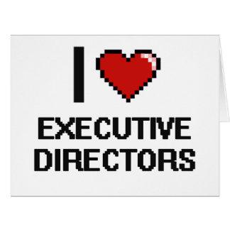 Amo a los directores ejecutivos tarjeta de felicitación grande
