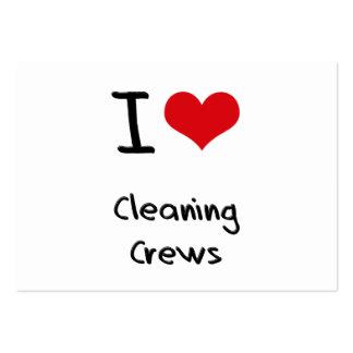 Amo a los equipos de limpieza tarjeta de negocio