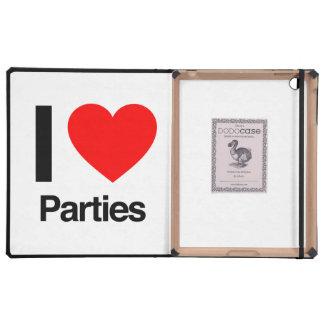 amo a los fiestas iPad cárcasas