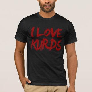 Amo a los Kurds frescos Camiseta