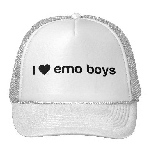 Amo a los muchachos de Emo Gorros Bordados