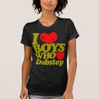 Amo a los muchachos que aman Dubstep (amarillo Camisetas