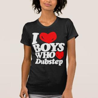 Amo a los muchachos que aman Dubstep (blanco/el Camiseta