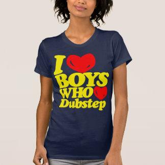 Amo a los muchachos que aman Dubstep (el amarillo) Camisetas