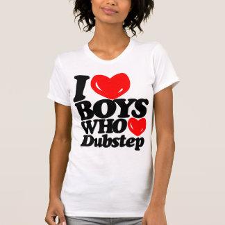 Amo a los muchachos que aman Dubstep negro el roj Camiseta