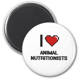 Amo a los nutricionistas animales imán redondo 5 cm