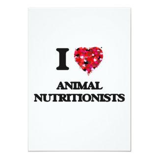 Amo a los nutricionistas animales invitación 12,7 x 17,8 cm