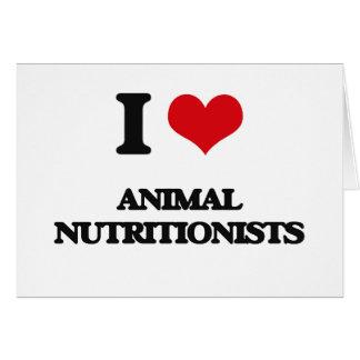 Amo a los nutricionistas animales tarjetas