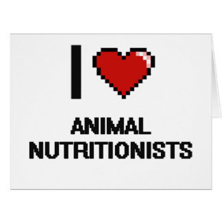 Amo a los nutricionistas animales tarjeta de felicitación grande
