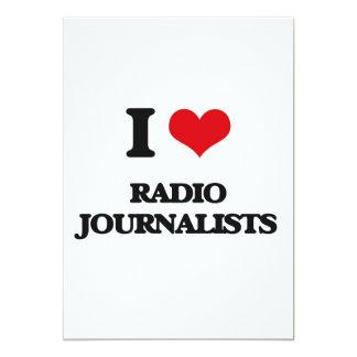 Amo a los periodistas de radio invitación 12,7 x 17,8 cm