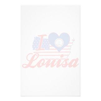 Amo a Louisa, Virginia Papelería De Diseño