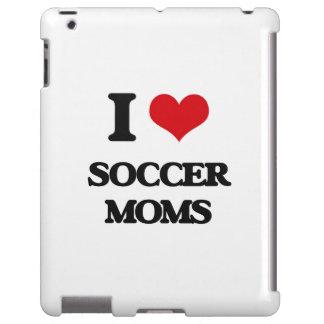 Amo a mamáes del fútbol funda para iPad
