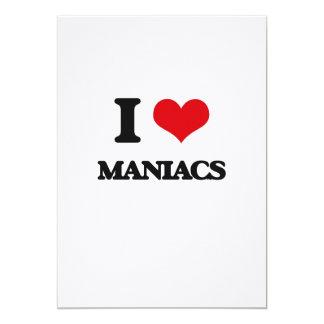 Amo a maniacos invitación 12,7 x 17,8 cm