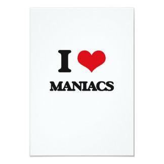 Amo a maniacos invitación 8,9 x 12,7 cm