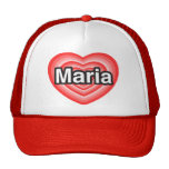 Amo a Maria. Te amo Maria. Corazón Gorro