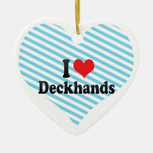 Amo a marineros ornamentos de navidad