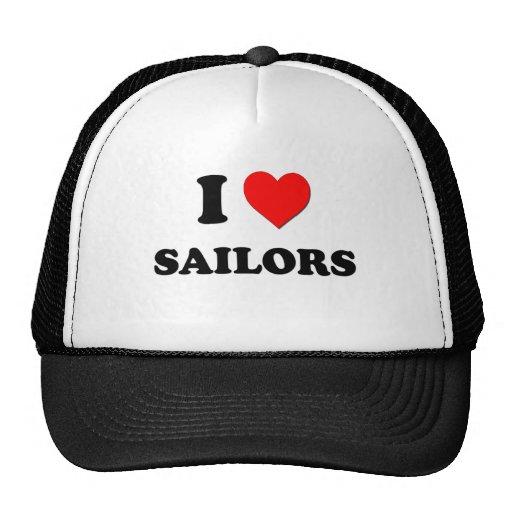 Amo a marineros gorro de camionero