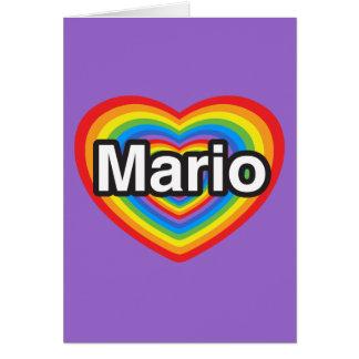 Amo a Mario Te amo Mario Corazón Tarjetón