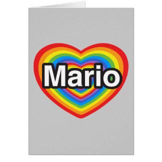 Amo a Mario Te amo Mario Corazón Tarjeton