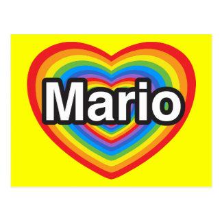 Amo a Mario Te amo Mario Corazón Tarjetas Postales