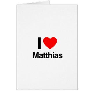 amo a Matías Felicitacion