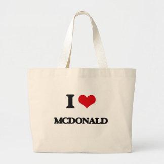 Amo a Mcdonald Bolsa Tela Grande