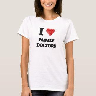 Amo a médicos de cabecera camiseta