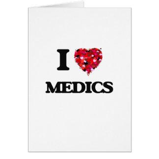 Amo a médicos tarjeta de felicitación