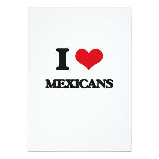 Amo a mexicanos invitación 12,7 x 17,8 cm