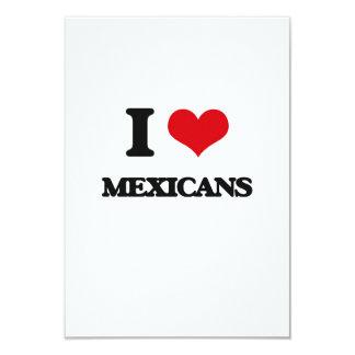 Amo a mexicanos invitación 8,9 x 12,7 cm