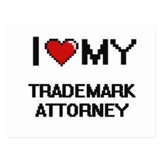 Amo a mi abogado de la marca registrada postal
