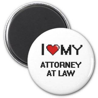 Amo a mi abogado en la ley imán redondo 5 cm