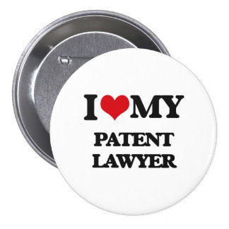 Amo a mi abogado patentado chapa redonda 7 cm