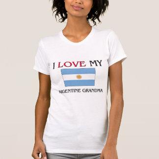 Amo a mi abuela de Argentina Camisetas