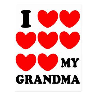 Amo a mi abuela postal