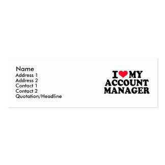 Amo a mi administrador de cuentas tarjetas de visita mini