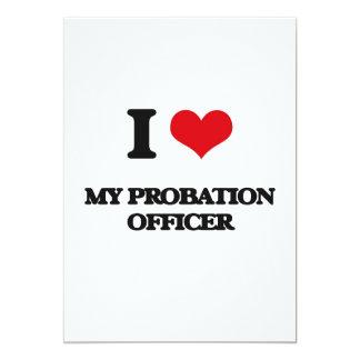 Amo a mi agencia de libertad vigilada invitación 12,7 x 17,8 cm