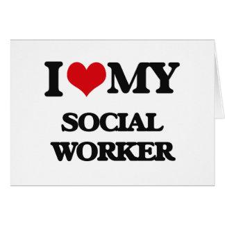 Amo a mi asistente social felicitación
