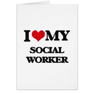 Amo a mi asistente social felicitaciones