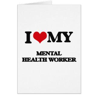 Amo a mi ayudante de sanidad mental tarjetón
