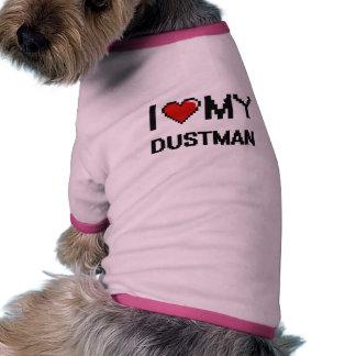 Amo a mi basurero camisas de mascota